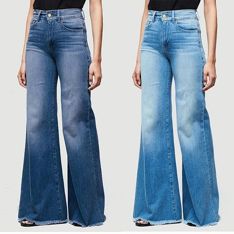 70s Vintage Plus Size Bell Bottom Denim Jeans