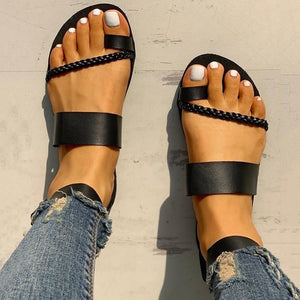 Toe Ring Braided Design Sandals - Women's Fashion Online Shopping At Affordable Prices