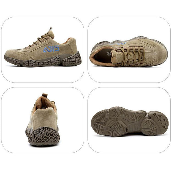 Wear-proof Safety Shoes Suede Steel Toe Work Shoes Boots