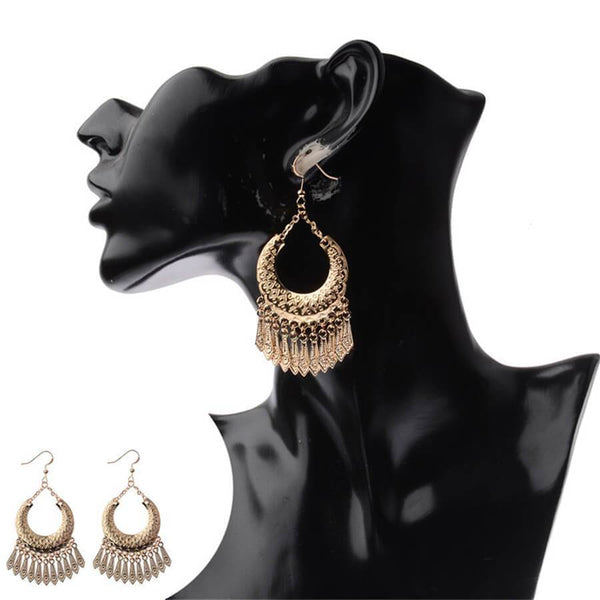 Vintage ethnic tassel earrings