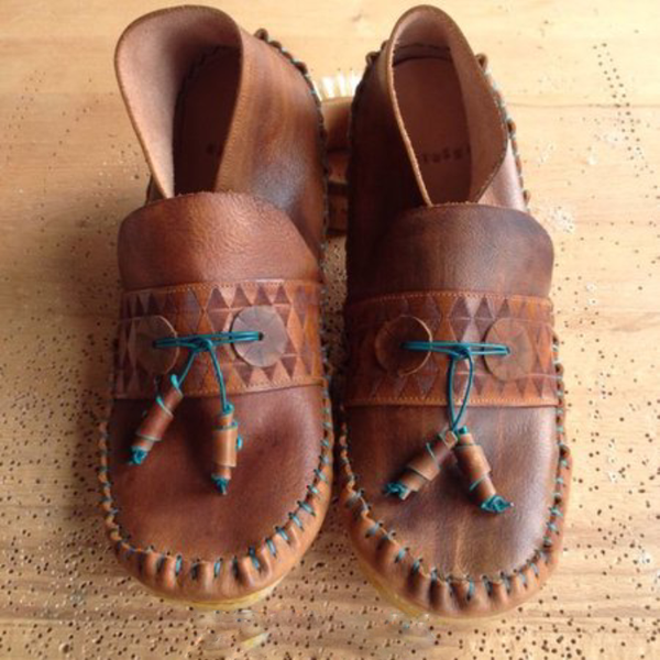 Ethnic Boho All Season Soft Leather Comfy Daily Flat Loafer Shoes