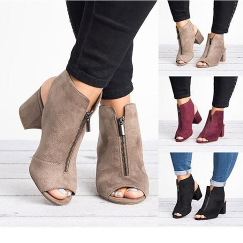 Women Sandals High-heel Shoes Women 2020 Spring Summer Fashion Sexy Casual Fish Mouth Wedge Sandals Plus Size 34-43