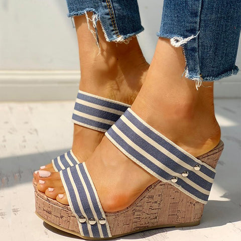 Leisure Women Comfortable Wedges Shoes Summer Sandals Woman Platform High Heels Shoes Big Size 43