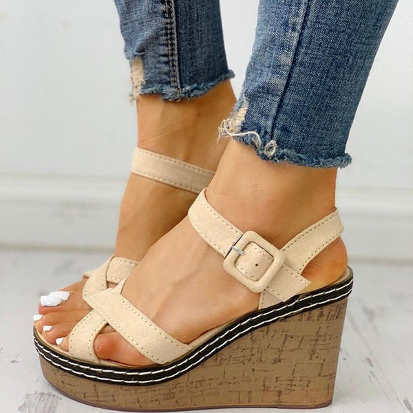 Women's wedges high heels platform ankle-strap leisure summer sandals female shoes