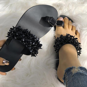 Womens Shiny Toe Ring Flat Sandals - Women's Fashion Online Shopping At Affordable Prices