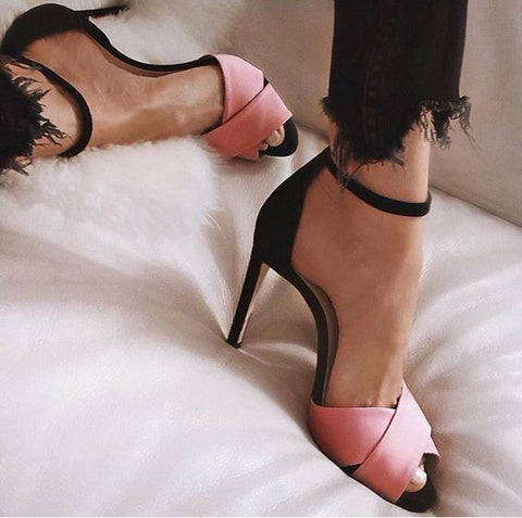 Women Summer High Heels Wedding Shoes Gladiator Women Heels Ladies Shoes Female Fashion Open Toe Sandals Stiletto
