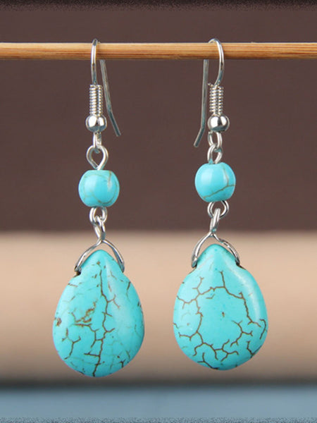 Womens Vintage Turquoise Pendant Earrings