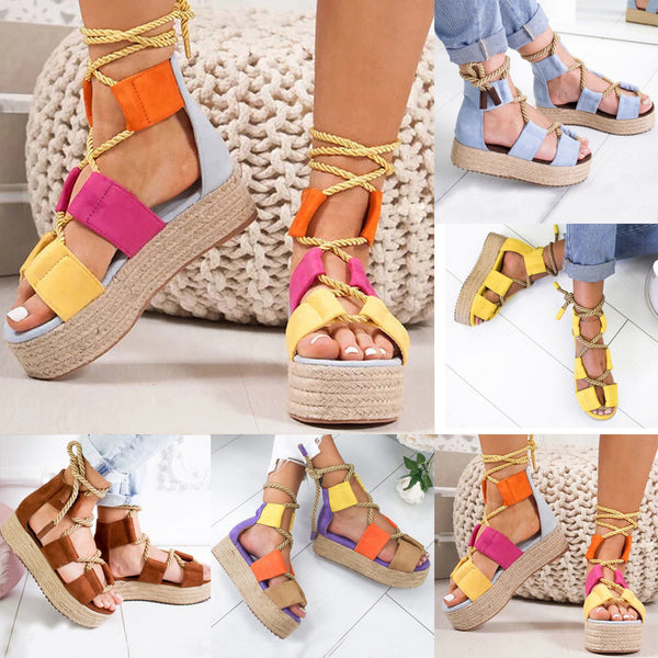 Women Wedge Sandals Summer Fashion Ladies Sandals Wedge Flat Shoes High Heels Platform Sandals Female Soft Beach Shoes