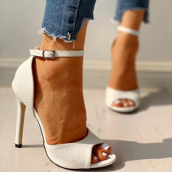 Women's Pumps Fashion Summer Sexy Exquisite Open Toe Ladies Shoes Female Increased Stiletto Super High Heel Sandals