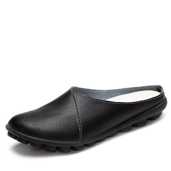 All Season Slip-On Women's Leather Comfy Casual Daily Slippers