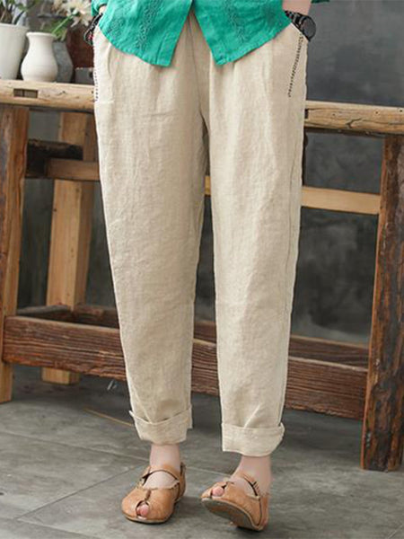 Casual Loose Plus Size Pants with Pockets