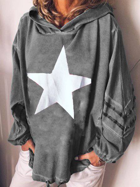 Oversize Long Sleeve Cotton Hoodie Outerwear Plus Size Hoodie