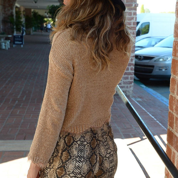 Casual Solid Round Neck Sweater Chunky Sweater