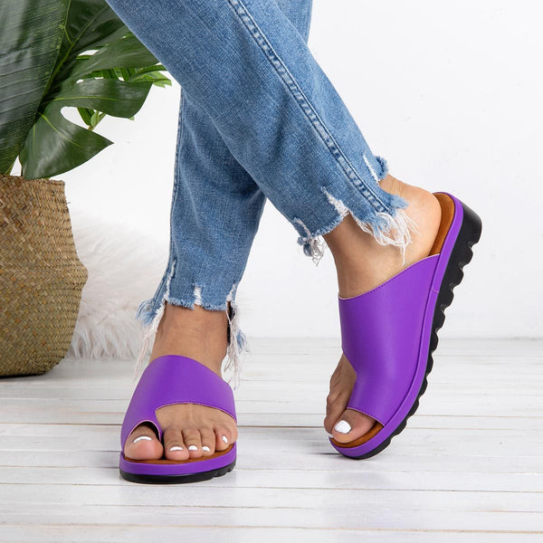 Women Comfy Flat Platform Sandal Shoes