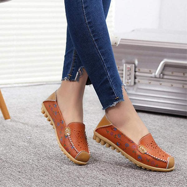 Flat PU Hollow-out Moccasin Comfy Casual Daily Shoes Loafers