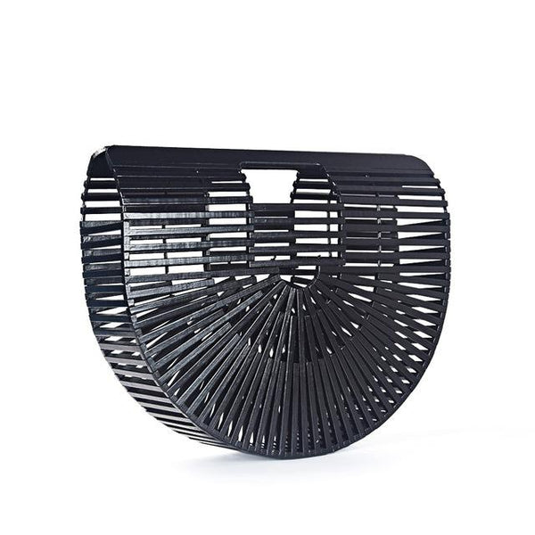 Vintage vacation Bamboo Basket Clutch