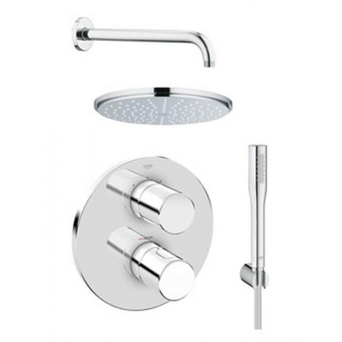Grohe Grohtherm 3000 Cosmopolitan Plus Rainshower Shower Solution Pack 4.