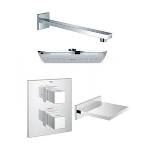 Grohe Grohtherm Cube Bath And Shower Solution Pack 2