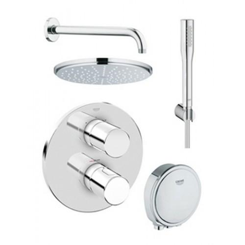 Grohe Grohtherm 3000 Cosmopolitan Bath/Shower Solution Pack 4