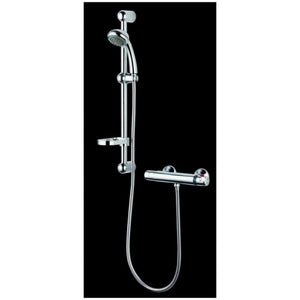 Citylux Nero Thermostatic Bar Shower
