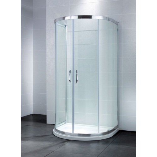 April Identiti P Shaped Quadrant Shower Enclosure with Dedicated Shower Tray