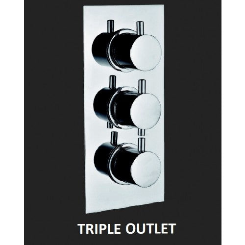 Bathroom Solutions Ocean Triple Outlet Lever Valve