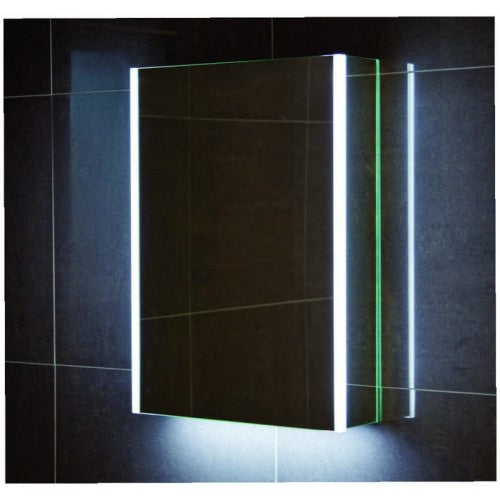 Citylux Lusso Single Door LED Mirror Cabinet 700 x 300mm