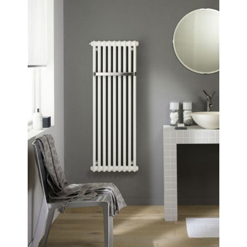 Zehnder Charleston Bar Bathroom Radiator White 900X444