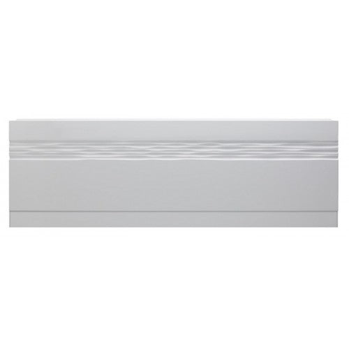 Sherwood Wave front bath panel 1700 High Gloss White 29.0018