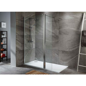 ALLIANCE TALLA 8MM SHOWER SCREEN 760mm and 300mm Flpper Layout 2