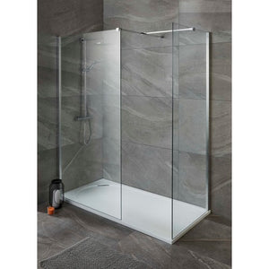 ALLIANCE TALLA 8MM SHOWER SCREEN 900mm,Side panel 300mm Flpper Optional and Talla Tray Layout 3