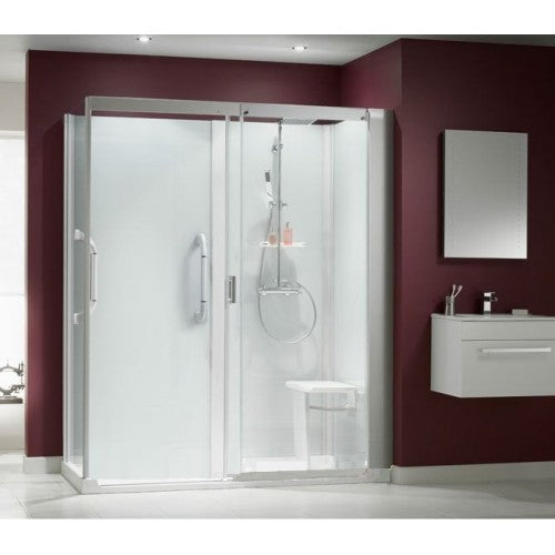 Kinedo kinemagic Serenity Inclusive Corner Cubical With Sliding Door 1200mm x 900mm