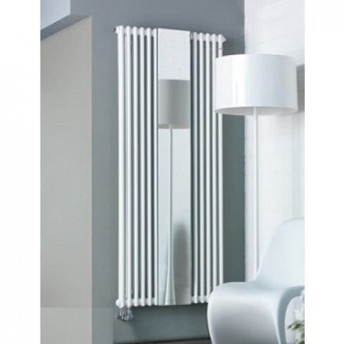 Zehnder Charleston Mirror Vertical Radiator White