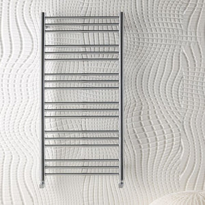 Eastbrook Biava Round towel rail 1800mm x 400mm Chrome