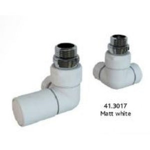 Eastbrook Corner Radiator Valves White (Pair)