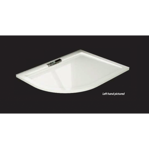 Citylux Premium Infinity Offset Quad Shower Tray 1200mm x 900mm Left Hand