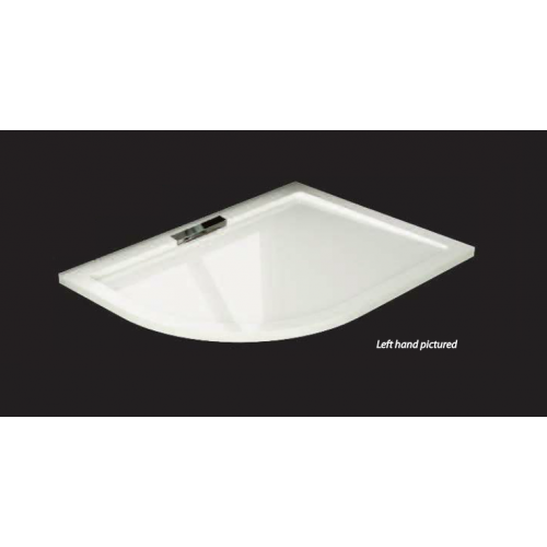 Citylux Premium Infinity Offset Quad Shower Tray 1000mm x 800mm Left Hand