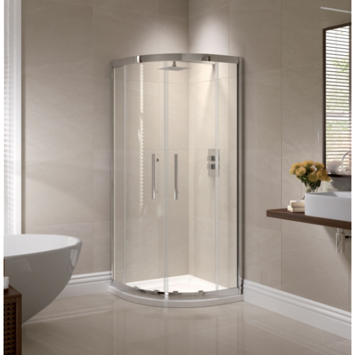 April Prestige 2 Door Quadrant Shower Enclosure 8mm Glass 800mm x 800mm