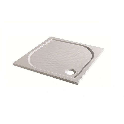 Eastbrook Volente Vanguard 25 Square Shower Tray & Waste 1000 x 1000