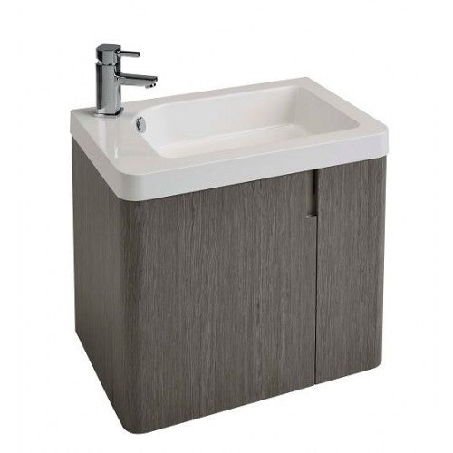Alliance Cara 600 1 Door Unit & Basin Ash Grey finish