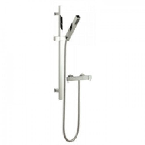 Hudson Reed Minimalist Quadro Thermostatic Bar Shower & Kubix Kit with Free shower mounts