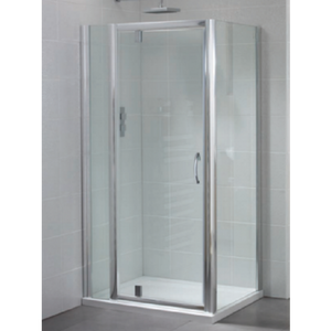 April Identiti2 Pivot Shower Door 6mm Glass 900mm