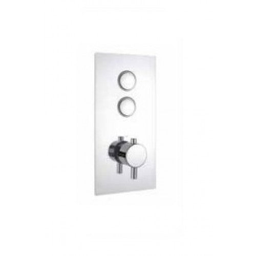 Cruze Triple Round Concealed Thermostatic Shower Valve Push Button