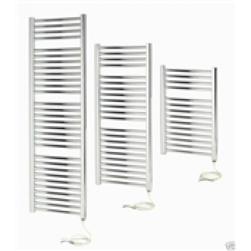 Apollo Napoli 1100mm x 450mm sealed electric curved towel rail - chrome
