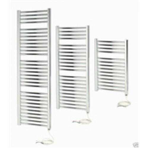 Apollo Napoli 700mm x 600mm sealed electric curved towel rail - chrome