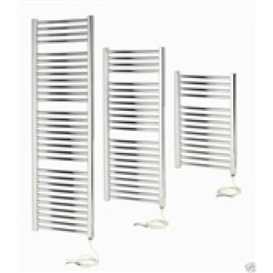 Apollo Napoli 800mm x 500mm sealed electric straight towel rail - chrome