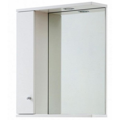 Aquapure 1 650mm Mirror Cabinet And Light Gloss White