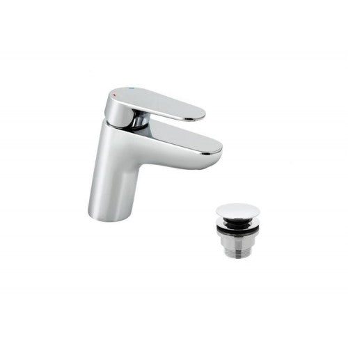 Vado ascent mono basin mixer with easy clean directional aerator with universal basin waste