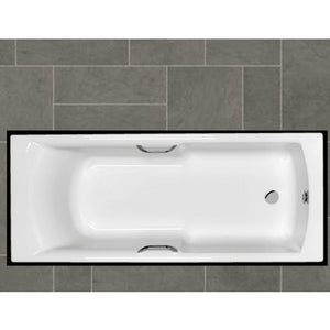 Carron Axis Bath 1700mm x 700mm Twin Grips Carronite