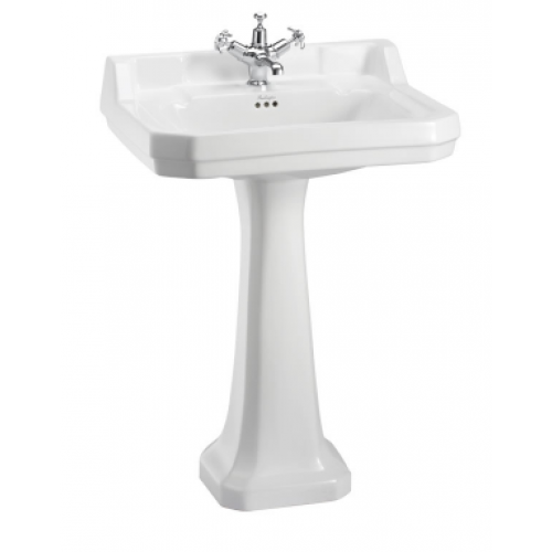 Burlington Edwardian Rectangular 61cm 1 tap/hole Basin and Pedestal